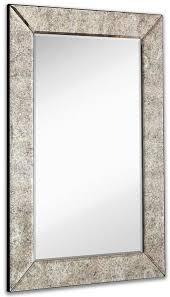 rectangle mirror frame. Wonderful Frame Large Antiqued Framed Wall Mirror 24 And Rectangle Frame