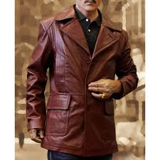 donnie brasco johnny depp brown leather jacket