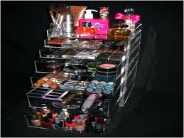 acrylic makeup organizer with drawers cosmetic large 15 section