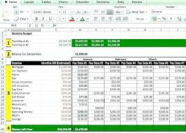 Excel Weekly Budget Spreadsheet Budgeting Spreadsheet Template Excel