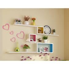 bedroom wall shelves decorative wooden