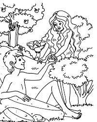 Adam And Eve Coloring Page For Preschoolers Carinsurancezdpro