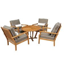 mimosa 5pc deep seat lounge setting w cushions i n 3240551 bunnings warehouse