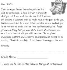 Parent Teacher Conference Letter Template The Letter Is Ready With A ...
