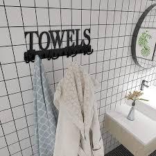 towel rack 8 hooks towel holder