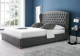 ... Bed Frames King Size King Size Metal Bed Frame Modern Style Bedroom  Idea Gray