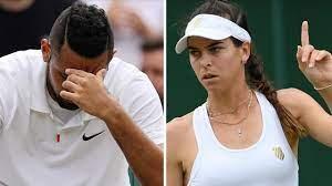 Ajla Tomljanovic accuses Jelena Ostapenko of faking injury as Nick Kyrgios  bows out of Wimbledon