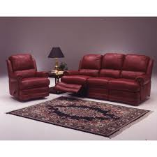 Leather Living Room Sets On Omnia Leather Morgan Reclining Leather Living Room Set Reviews