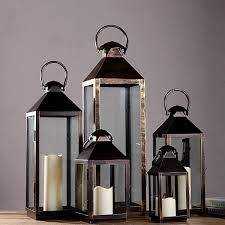 Wrought Iron Glass Vintage Large Floor Windproof Lanterns Vintage Yard Home  Wedding Lantern Candle Holder-in Candle Holders from Home & Garden on ...