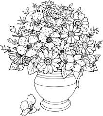 vase of flowers drawing at getdrawings