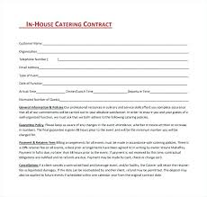Free Sample Catering Contract Template Combined With Catering ...