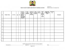 Logbook Samples Kenya Moh Health Facility Samples And Results Tracking Log Book