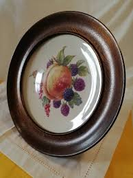 hardwood wall hanging circular plate