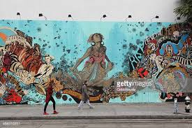 bowery mural wall artist swoon hurricane sandy memorial on mural wall artist with mural stock photos and pictures getty images