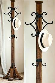 Wrought Iron Coat Rack Tree