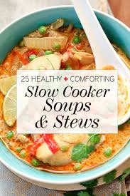 comforting slow cooker soups stews