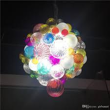 new designer led pendant light hand blown glass chandelier art glass small chandelier for new house decoration pendant lighting drum