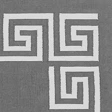 greek key border indoor outdoor rug gray williams sonoma