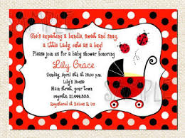 Template  Free Baby Shower Invitation TemplatesFree Printable Ladybug Baby Shower Invitations