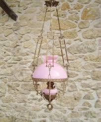 vintage french pink opaline chandelier