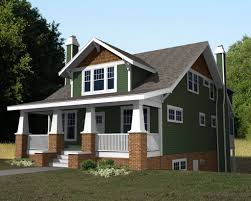 image of cute small craftsman cottage house plans