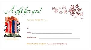 Gift Card Word Template Limoges Me