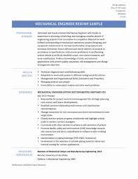 Sample Resume For Mechanical Engineer Fresher Pdf New Resume Format