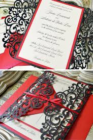best 25 red wedding invitations ideas on pinterest red and Red Velvet Wedding Invitations black and red laser cut wedding invitation by paper & lace Wedding Invitation Templates