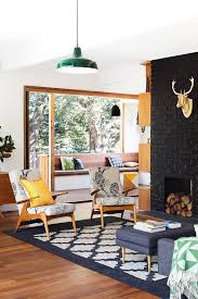 fireplace makeover ideas bright green door the lettered cottage best 20 midcentury