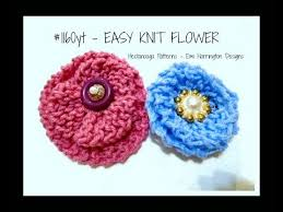 Knitted Flower Pattern Stunning EASY KNITTED FLOWER Knitting For Beginners YouTube