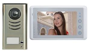 front door video cameraAmazoncom Video Door Phone Intercom System 7 LCD Color Touch
