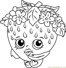 Strawberry Kiss Shopkins Coloring Page Free Shopkins Coloring