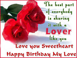 Happy Birthday Best Wishes For Lover Birthday Wishes