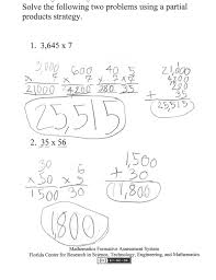 Partial Products Students are asked to solve two multiplication ...
