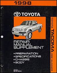 1998 toyota tacoma pickup wiring diagram manual original 1998 toyota tacoma pre runner repair shop manual original supplement