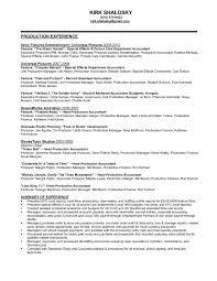 Sample Film Cover Letter Film Production Accountant Cover Letter Sample Resume For Manager