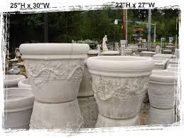 Big Concrete Planters Concrete Planters Little Baja Garden Deck And Patio Decor