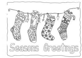 Small Picture Coloring Page Stocking Interesting Christmas Coloring Pages