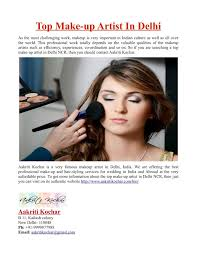 top make up artist in delhi
