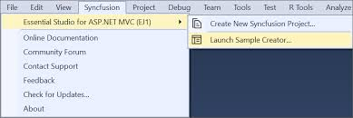 Online Menu Creator Sample Creator Asp Net Mvc Essential Js 1 Syncfusion
