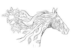 Small Picture Color Page Horse With Horse Coloring Pages For Adults Es