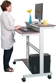 48inch wide mobile ergonomic standup desk