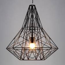 Vintage Industrial Style Large Cage LED Pendant Light with Reel Iron ...