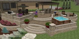 patio designs. Custom Terraced Patio Designs T