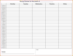 24 Hour 7 Day Week Schedule Template Scheduling Template