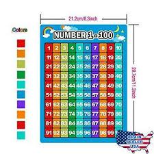 Bememo 3 Pieces Number 1 100 Charts Educational Preschool