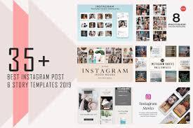 Best Instagram Accounts Design 35 Best Instagram Post Story Templates 2019 Syed Faraz