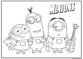 Minion Printable Coloring Pages Luxury Minion Printable Coloring