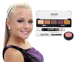 y natural with purple dance cheer makeup kit