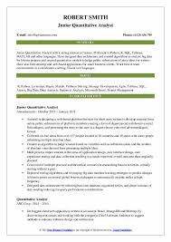 Resume Models Magnificent Quantitative Analyst Resume Samples QwikResume